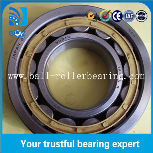 NU315-E-TVP2 Oil Lubrication Cylindrical Roller Bearing , Metric Spherical Bearing
