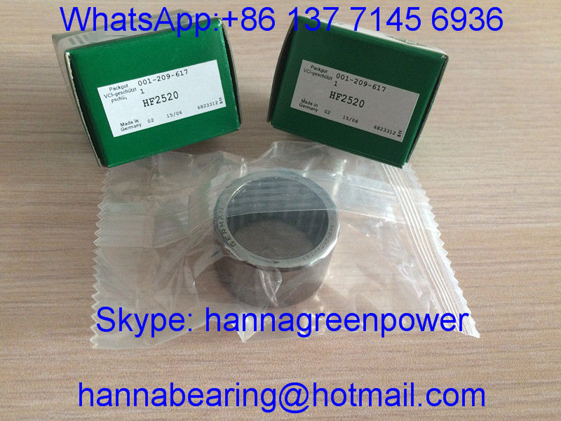 HF2520 Drawn Cup Roller Clutch / Needle Roller Bearing with Steel Spring , 25*32*20mm