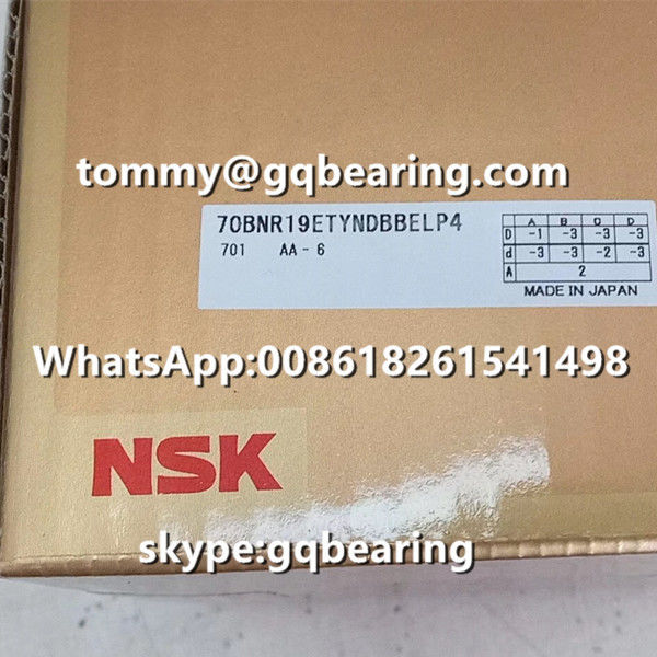 Gcr15 Steel Material Balls 18 degree Contact Angle NSK 70BNR19ETYNDULP4 Thrust Angular Contact Ball Bearing