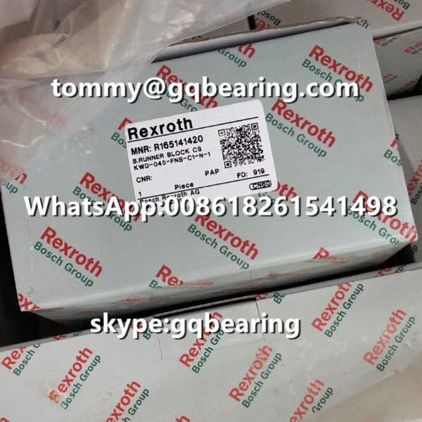 Rexroth R165141420 Steel Material Flange Type Standard Length Standard Height Runner Block